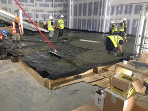 concrete floating floor installation chorley cinema