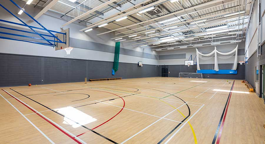 acoustic absorb panel in sports hall