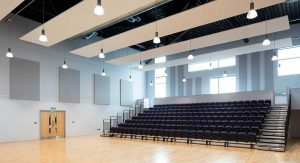 acoustic absorb panels in school